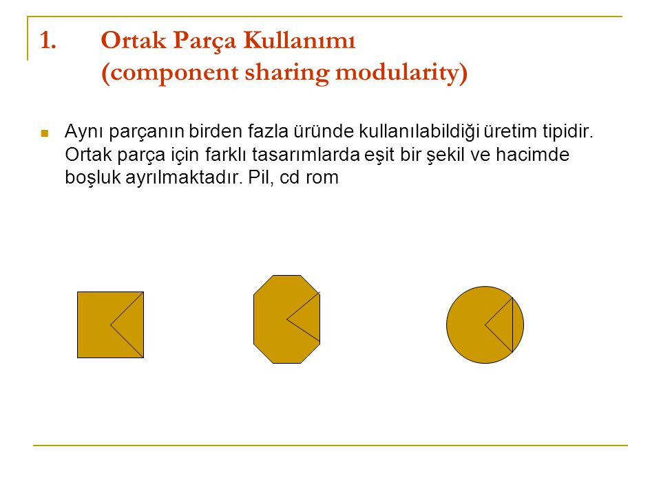 Ortak Parça Kullanımı (component sharing modularity)