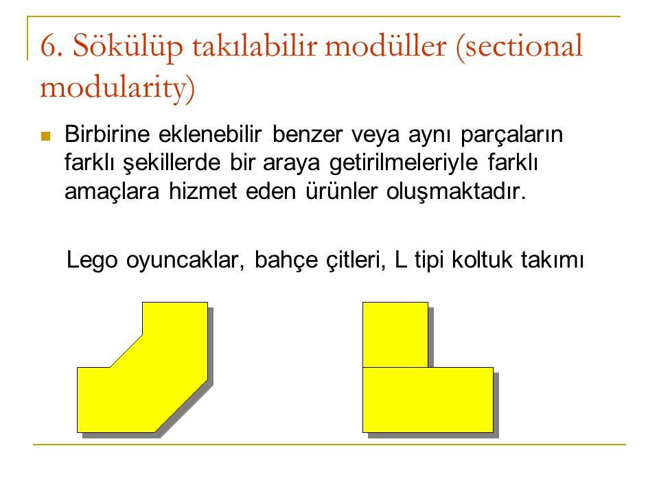 6. Sökülüp takılabilir modüller (sectional modularity)
