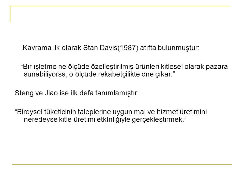 Kavrama ilk olarak Stan Davis(1987) atıfta bulunmuştur: