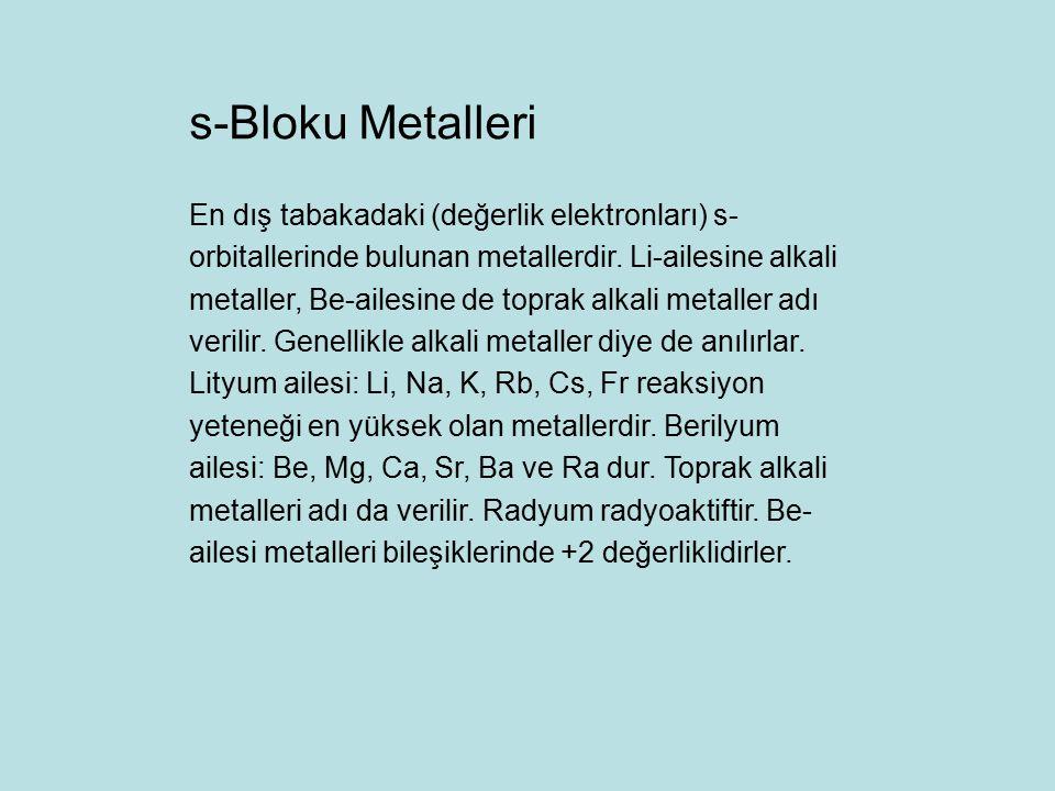 s-Bloku Metalleri