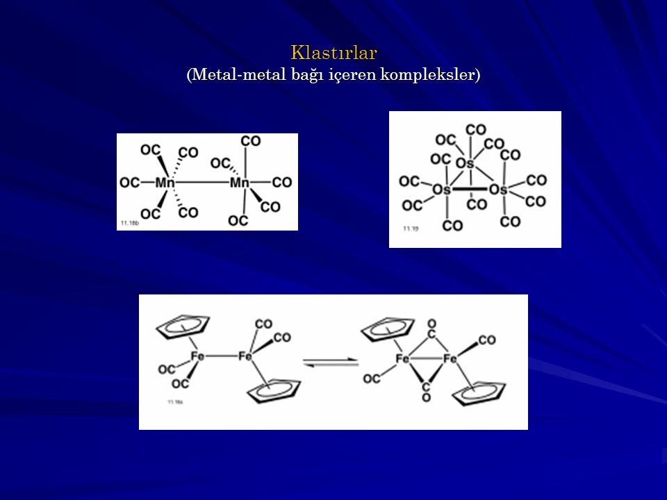Klastırlar (Metal-metal bağı içeren kompleksler)