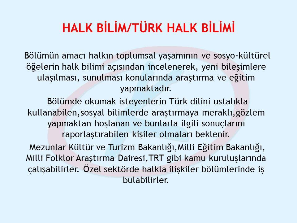 HALK BİLİM/TÜRK HALK BİLİMİ