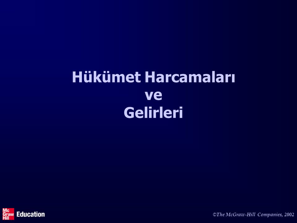 Hükümet harcamaları See Section 4-1 in the main text and Table 16-1.