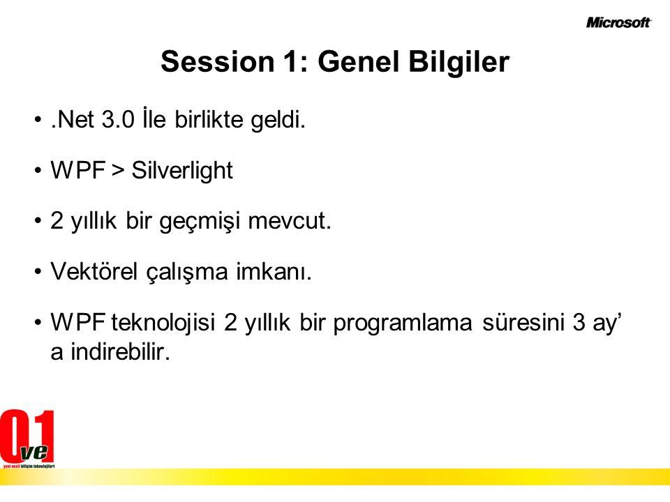 Session 1: Genel Bilgiler