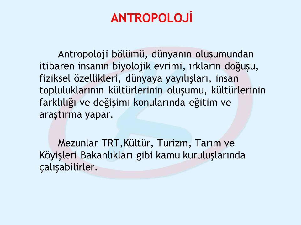 ANTROPOLOJİ