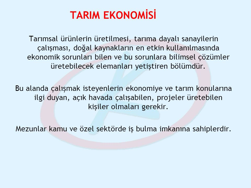 TARIM EKONOMİSİ
