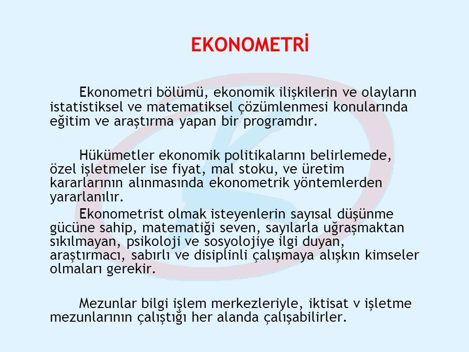 EKONOMETRİ