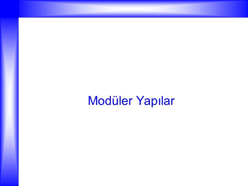 Modüler Yapılar
