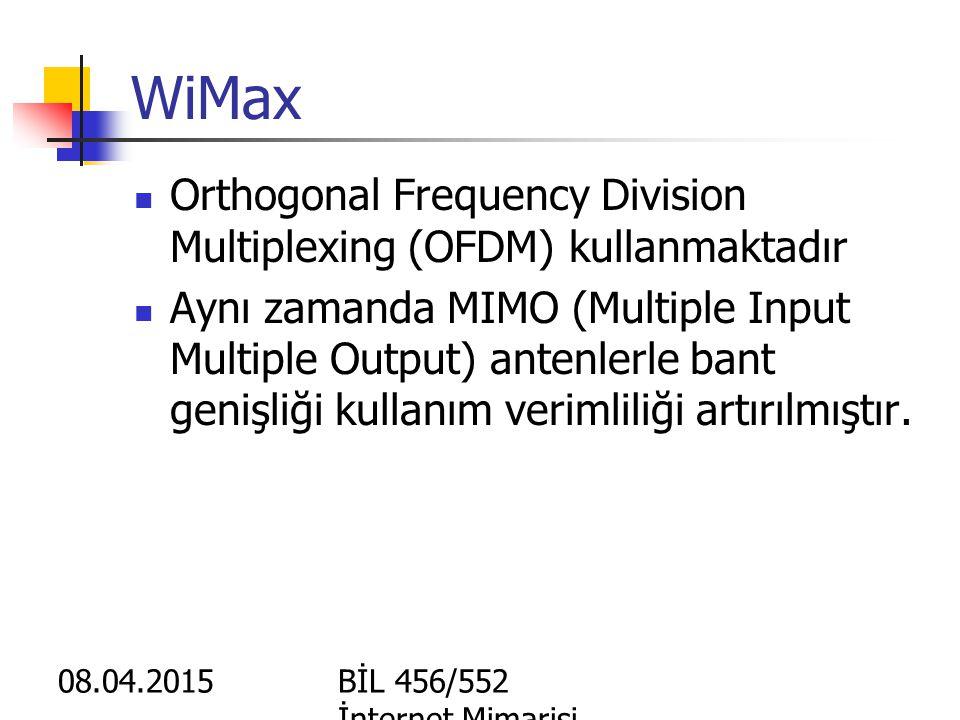 WiMax Orthogonal Frequency Division Multiplexing (OFDM) kullanmaktadır