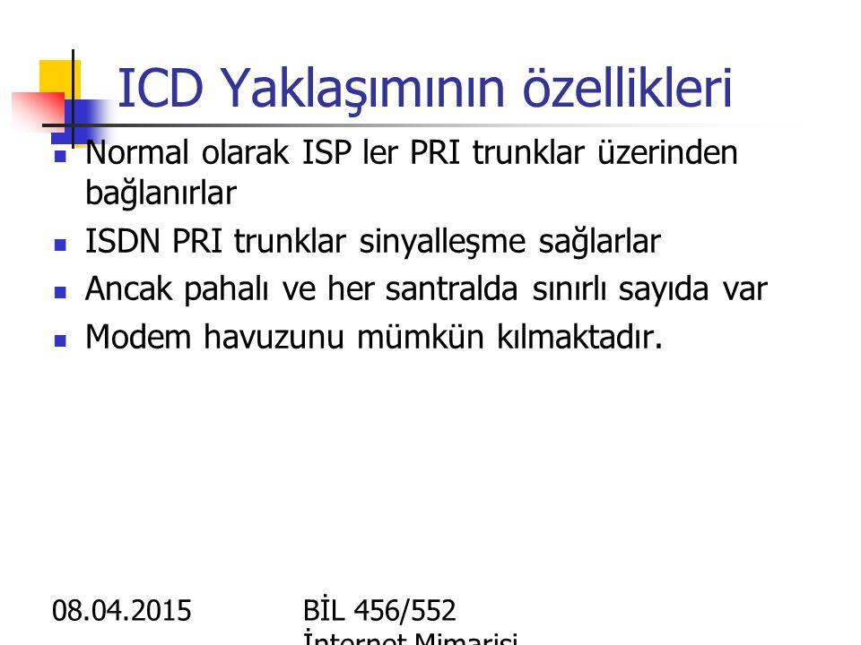 ICD Yaklaşımının özellikleri