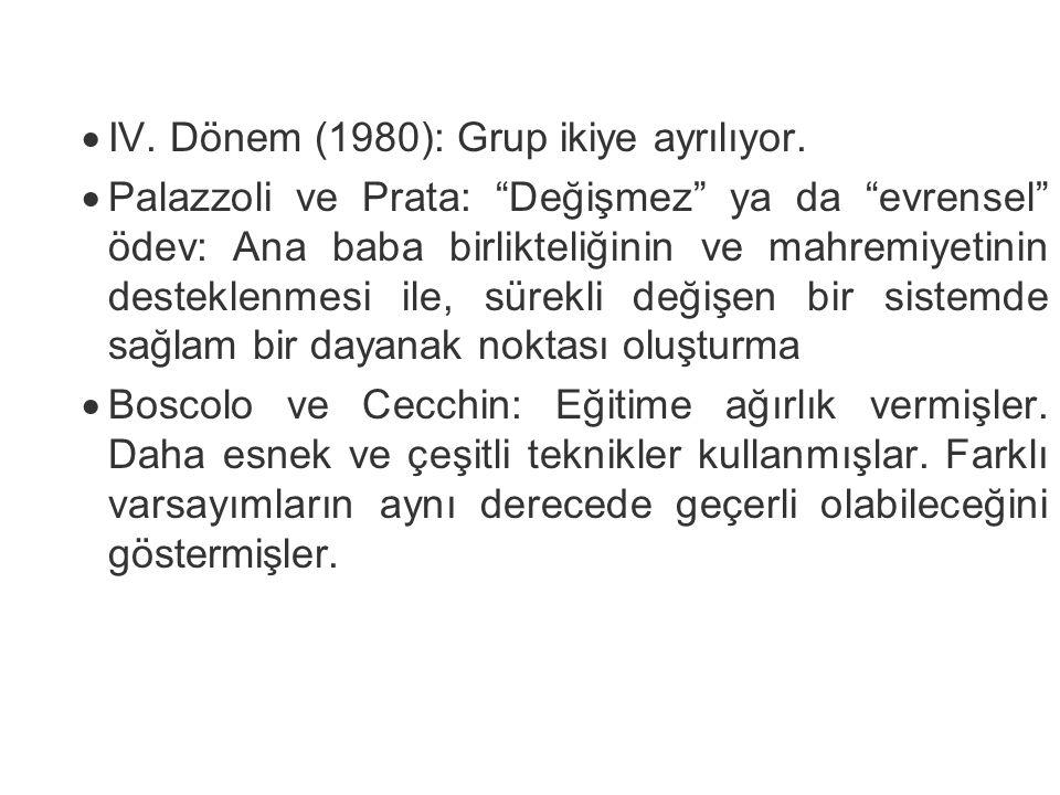 IV. Dönem (1980): Grup ikiye ayrılıyor.