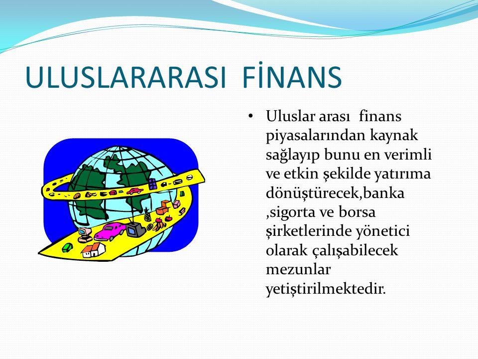 ULUSLARARASI FİNANS