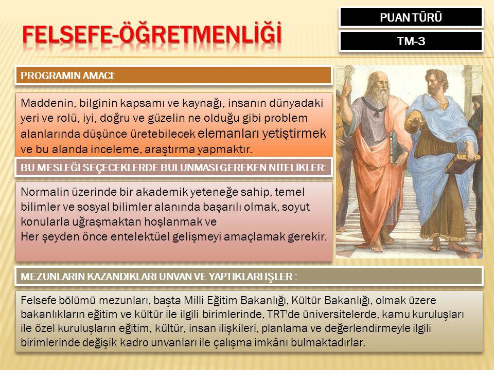 FELSEFE-ÖĞRETMENLİĞİ