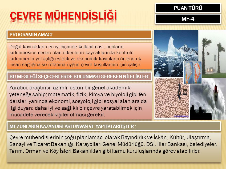 ÇEVRE MÜHENDİSLİĞİ PUAN TÜRÜ MF-4