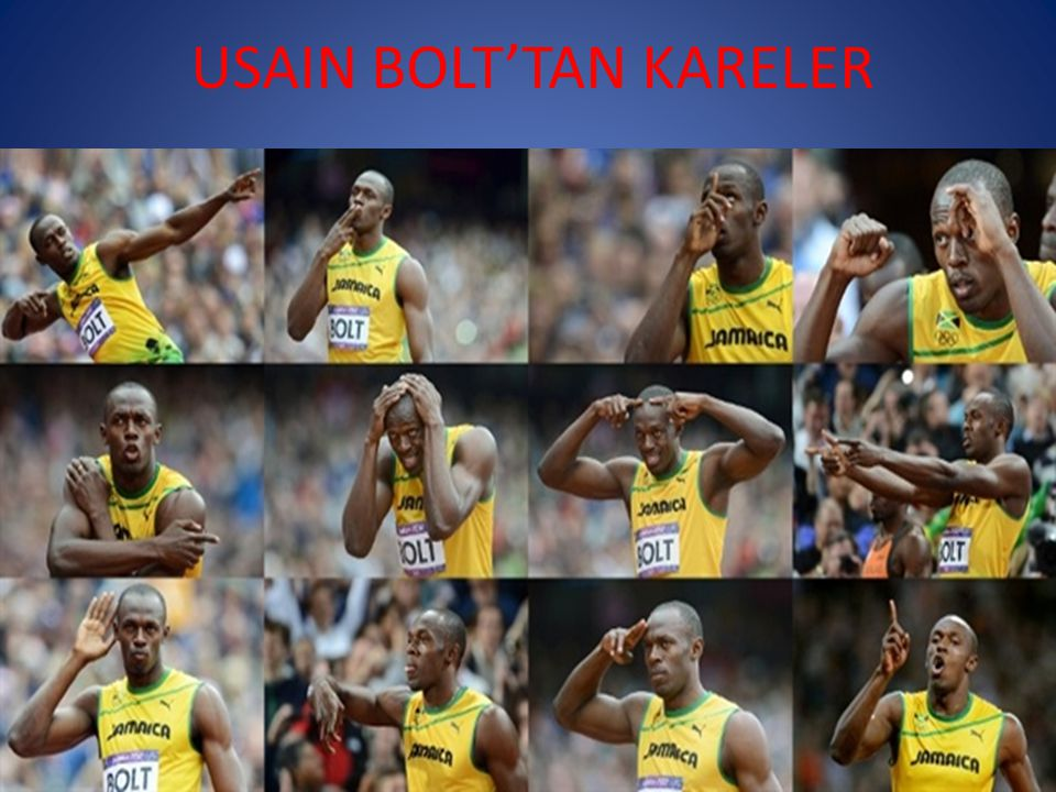 USAIN BOLT'TAN KARELER