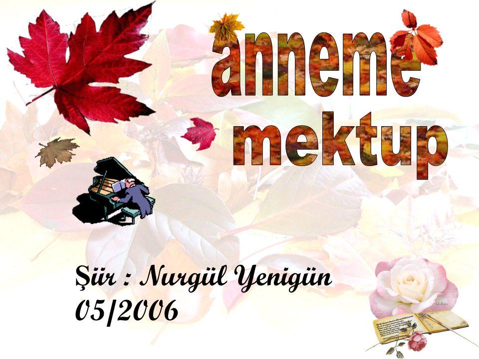 anneme mektup Şiir : Nurgül Yenigün 05/2006