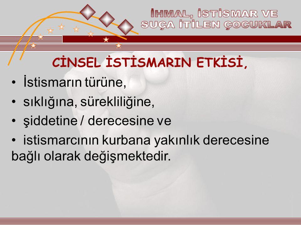 CİNSEL İSTİSMARIN ETKİSİ,