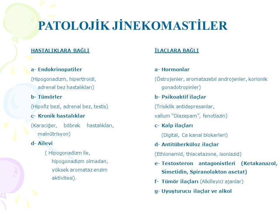 PATOLOJİK JİNEKOMASTİLER
