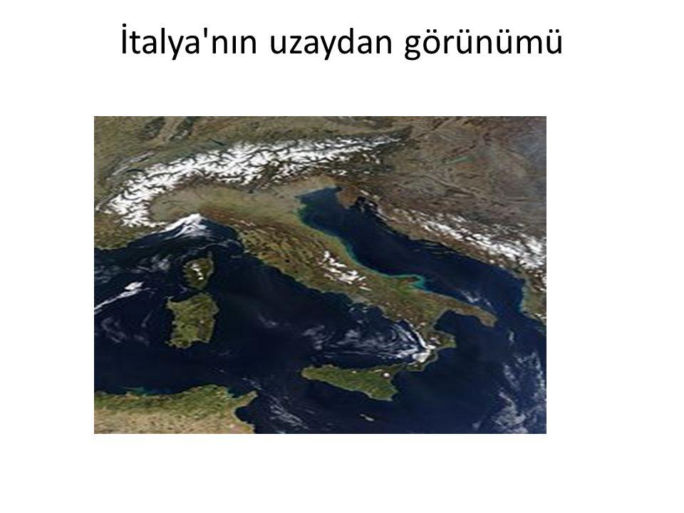 İtalya nın uzaydan görünümü