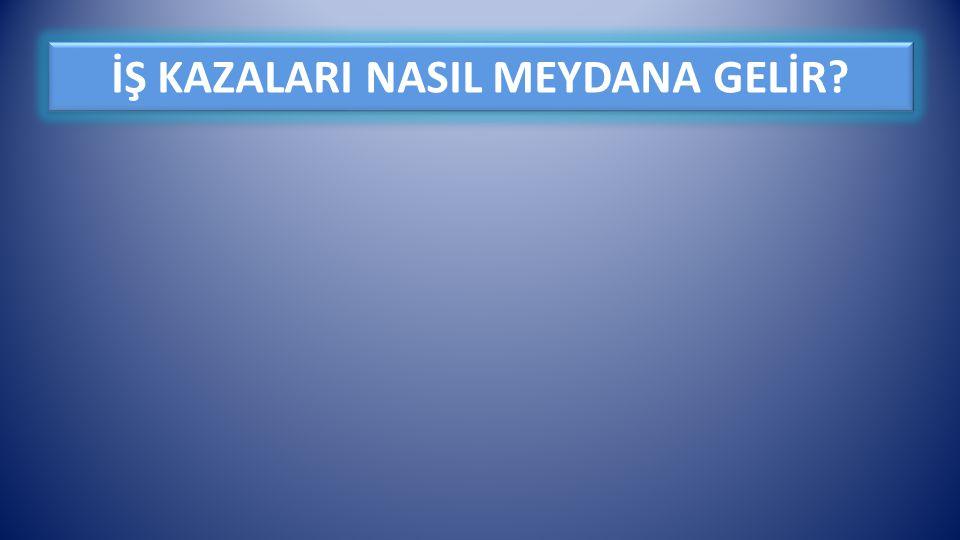 İŞ KAZALARI NASIL MEYDANA GELİR