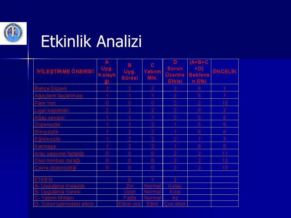 Etkinlik Analizi