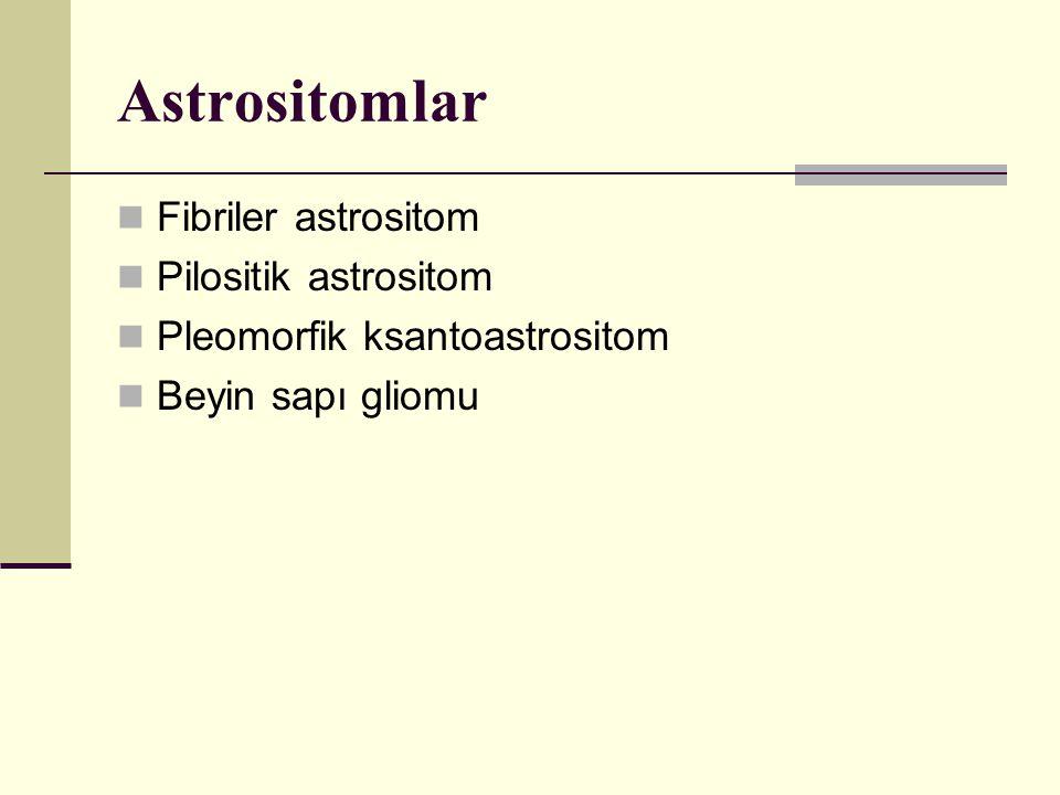 Astrositomlar Fibriler astrositom Pilositik astrositom