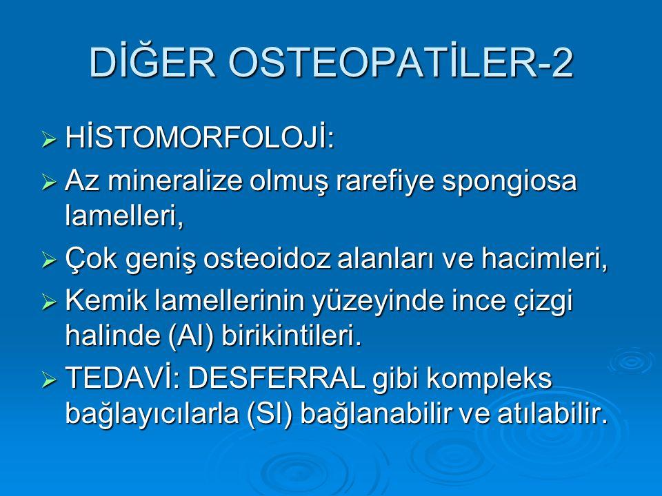 DİĞER OSTEOPATİLER-2 HİSTOMORFOLOJİ: