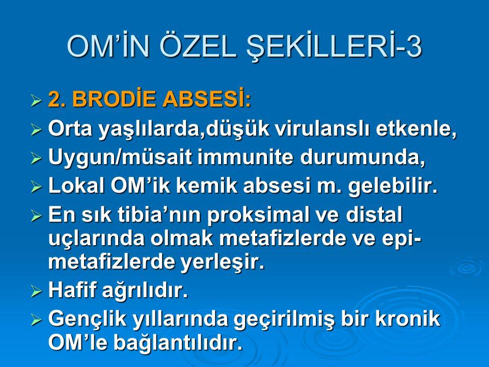 OM'İN ÖZEL ŞEKİLLERİ-3 2. BRODİE ABSESİ: