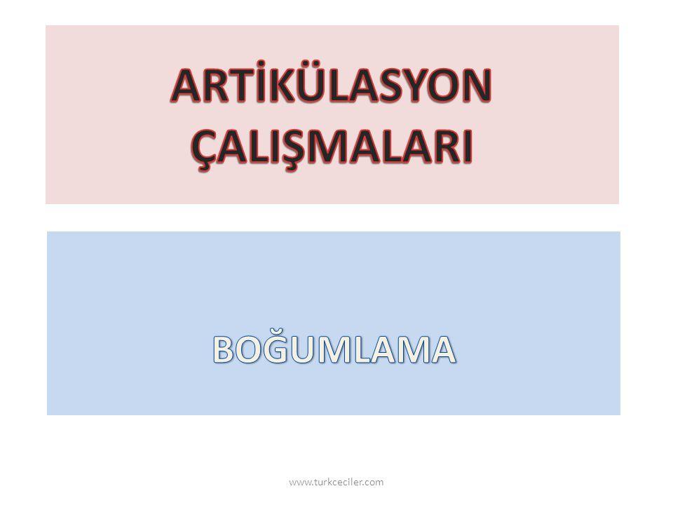 ARTİKÜLASYON ÇALIŞMALARI
