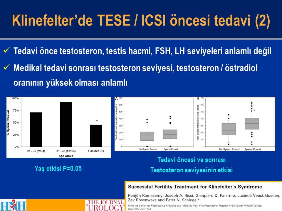 Klinefelter'de TESE / ICSI öncesi tedavi (2)