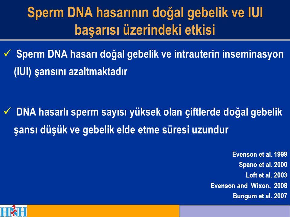 Sperm DNA hasarının doğal gebelik ve IUI başarısı üzerindeki etkisi