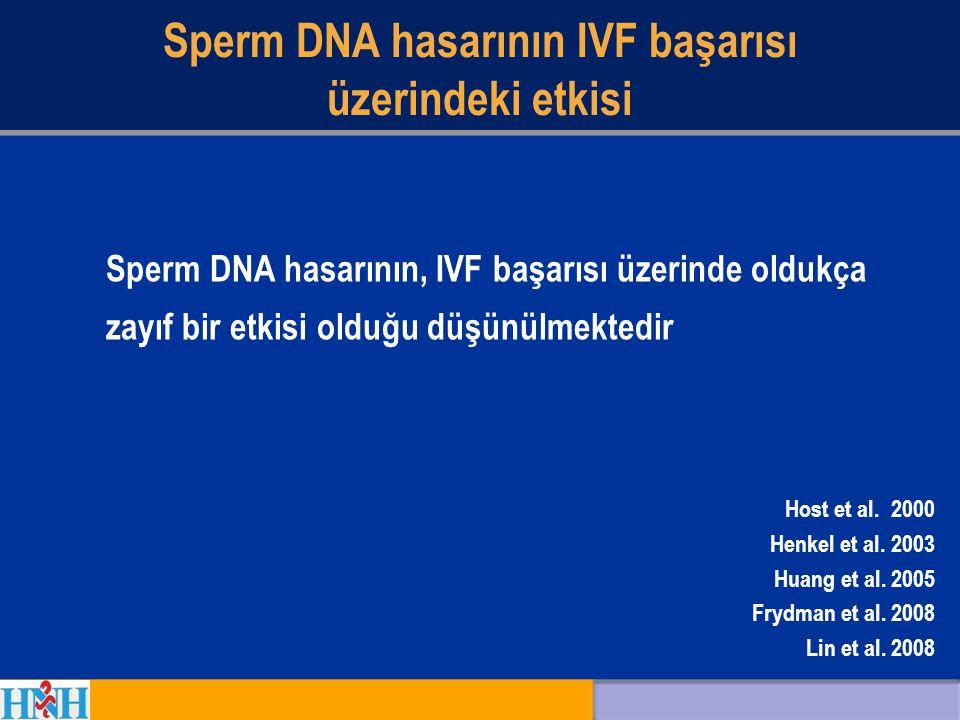Sperm DNA hasarının IVF başarısı