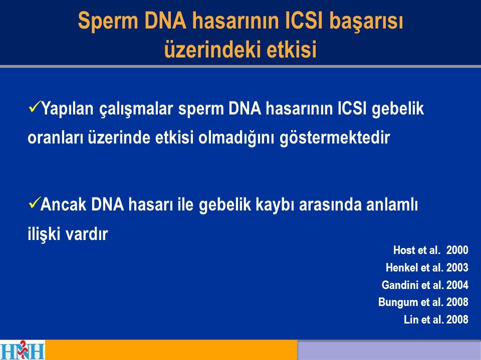 Sperm DNA hasarının ICSI başarısı