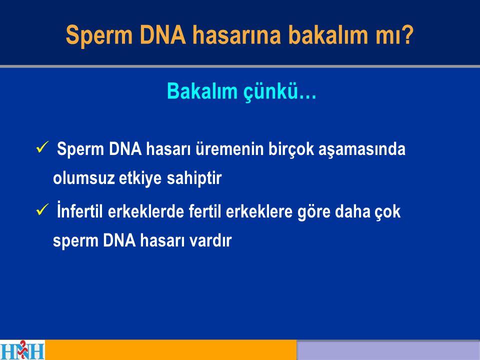 Sperm DNA hasarına bakalım mı