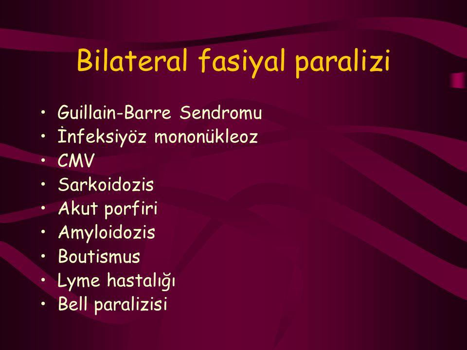 Bilateral fasiyal paralizi