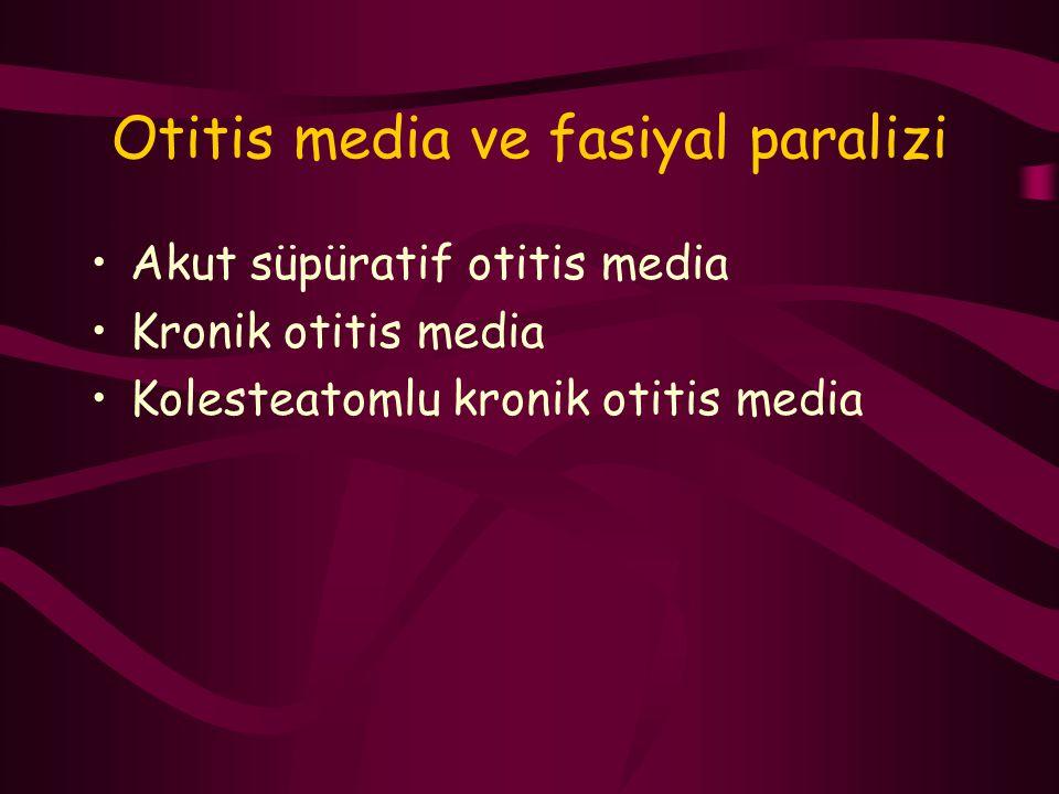 Otitis media ve fasiyal paralizi