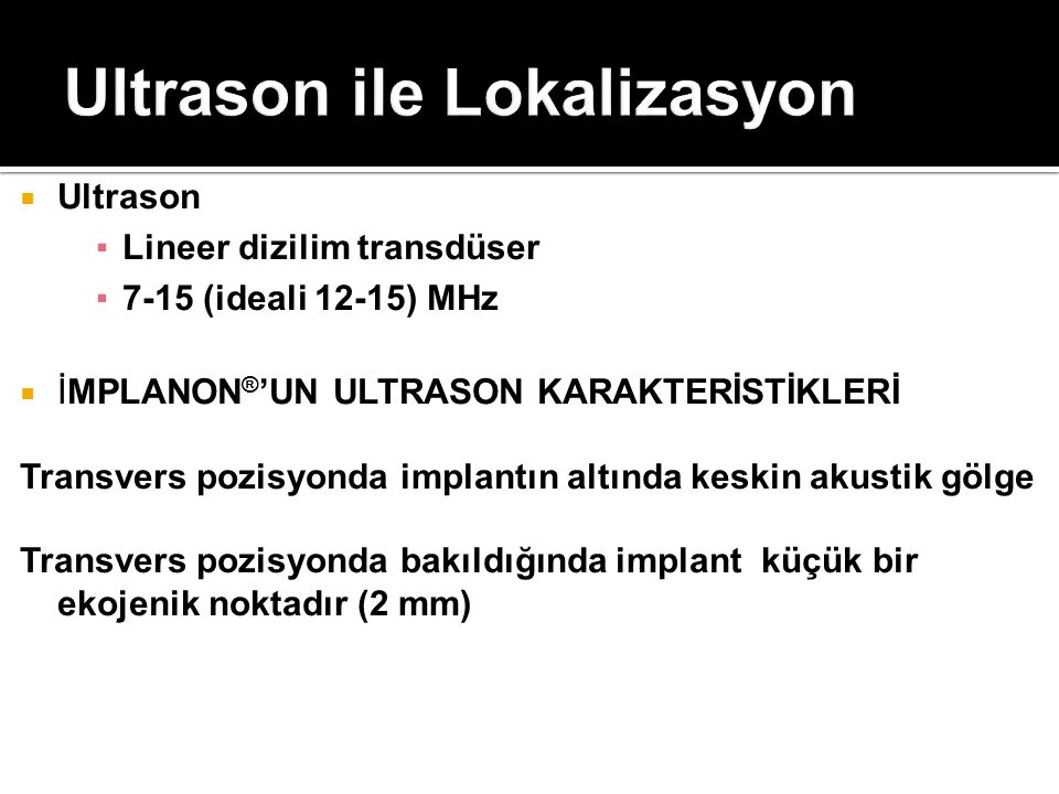 Ultrason ile Lokalizasyon