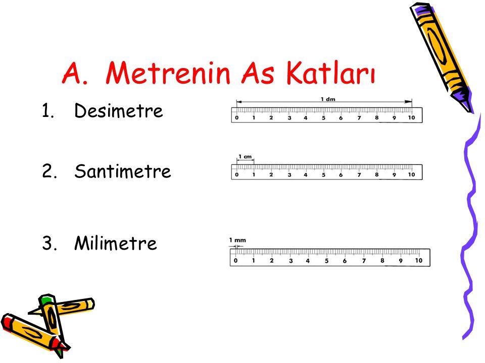 Metrenin As Katları Desimetre Santimetre Milimetre