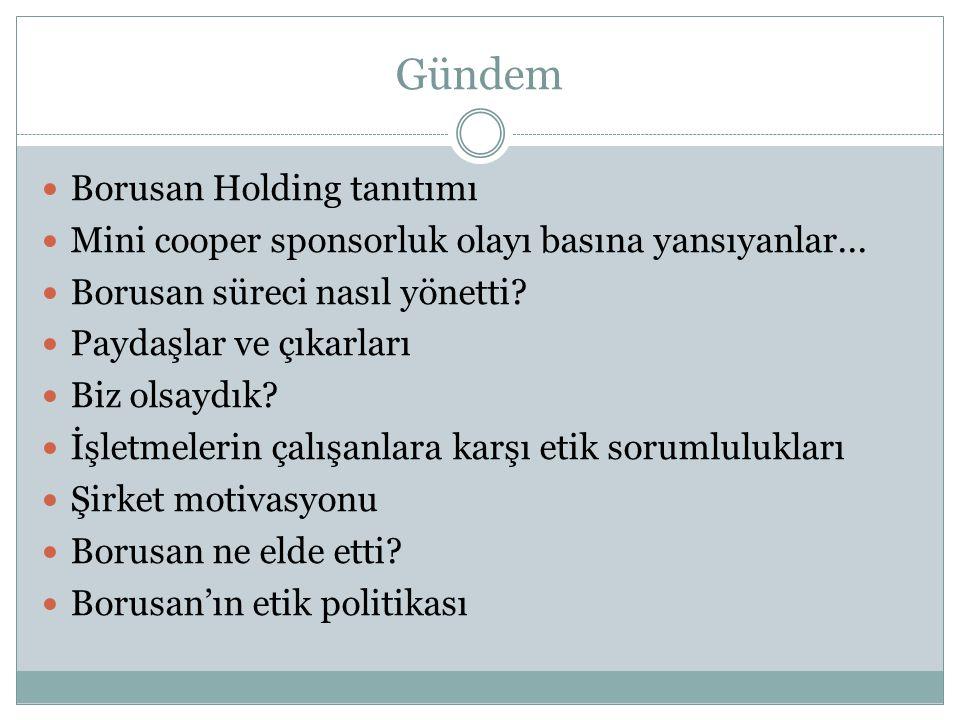 Gündem Borusan Holding tanıtımı