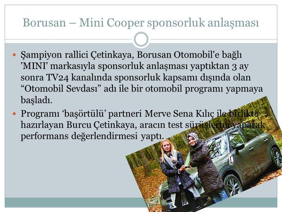 Borusan – Mini Cooper sponsorluk anlaşması