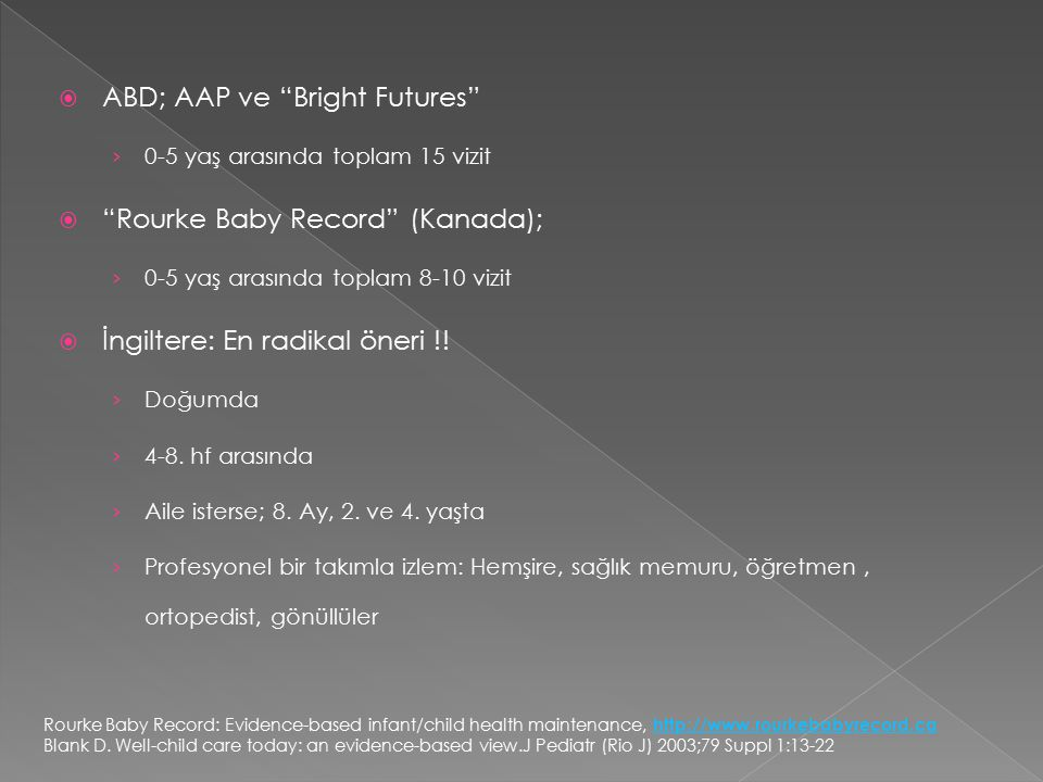 ABD; AAP ve Bright Futures