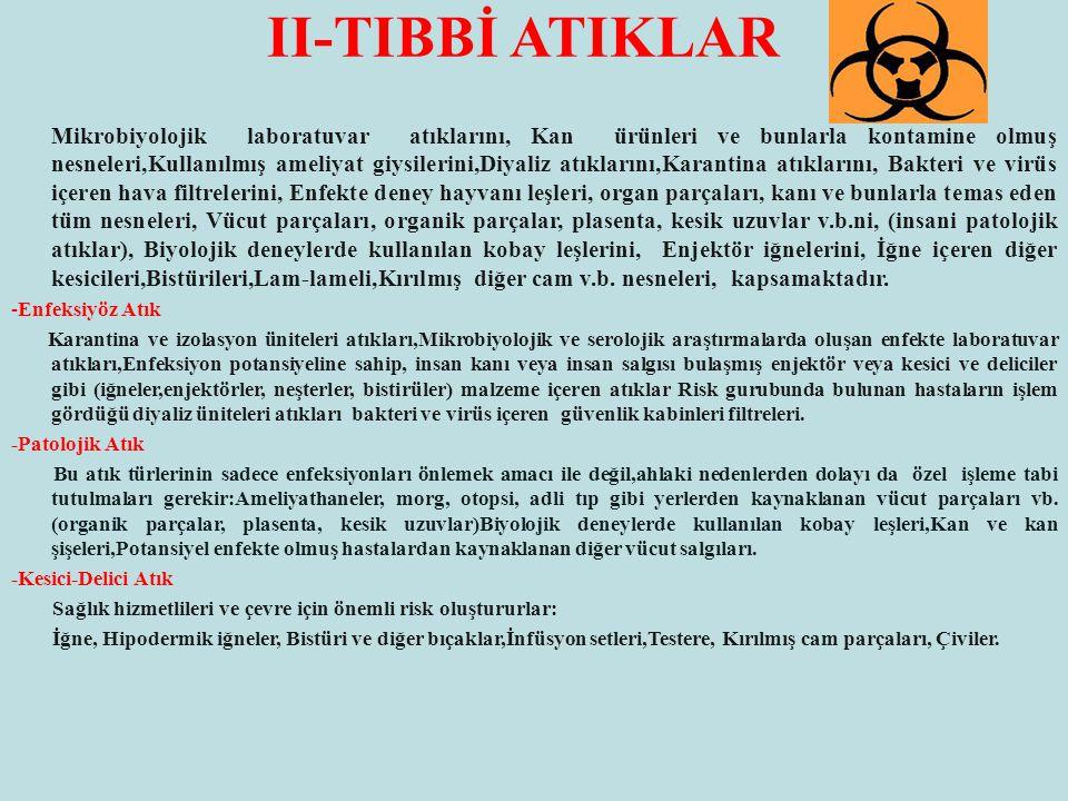 II-TIBBİ ATIKLAR