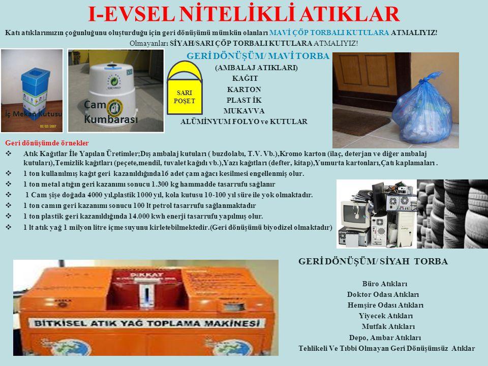 I-EVSEL NİTELİKLİ ATIKLAR