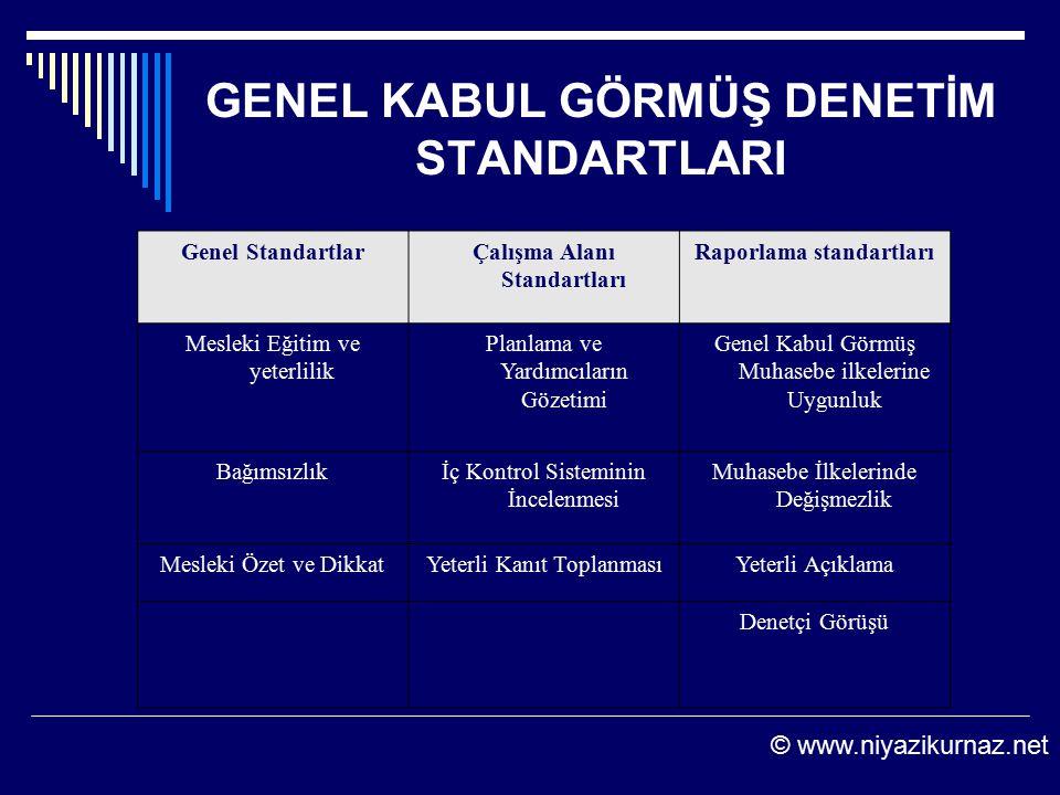 GENEL KABUL GÖRMÜŞ DENETİM STANDARTLARI