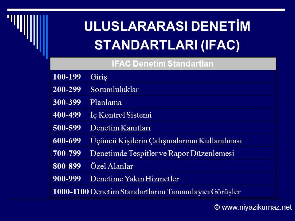 ULUSLARARASI DENETİM STANDARTLARI (IFAC)