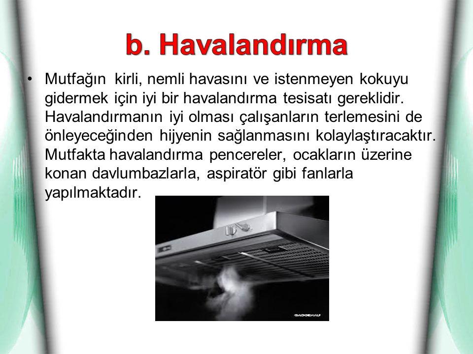 b. Havalandırma