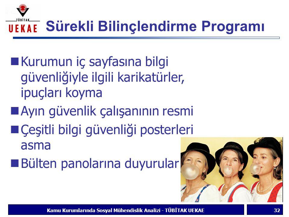 Sürekli Bilinçlendirme Programı