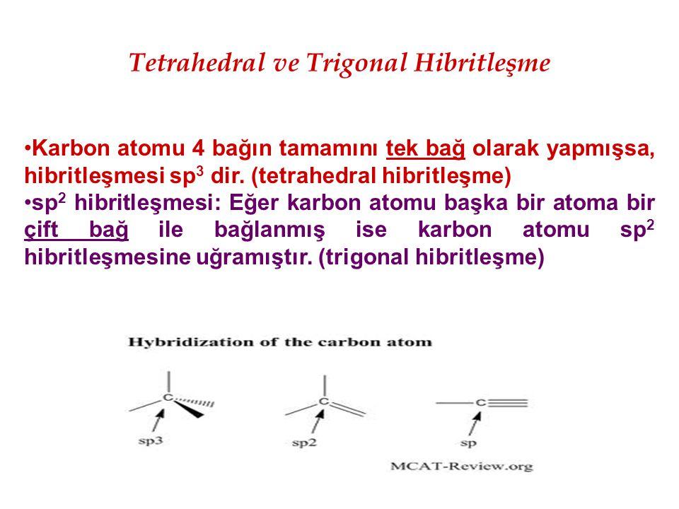 Tetrahedral ve Trigonal Hibritleşme