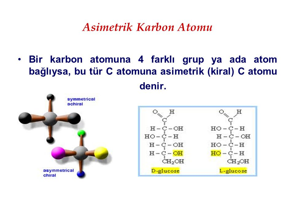 Asimetrik Karbon Atomu