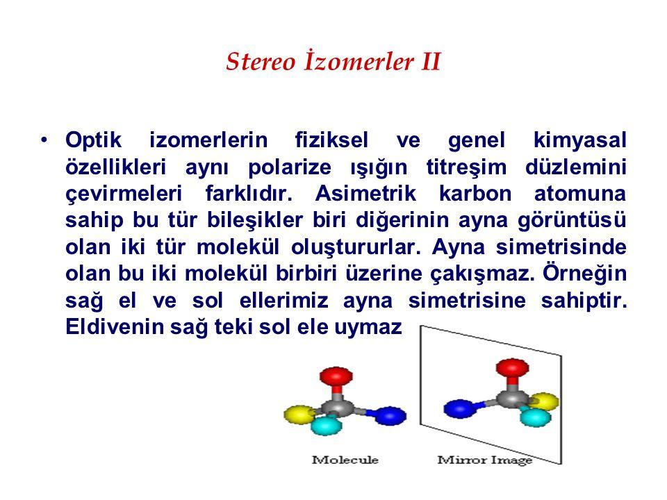 Stereo İzomerler II